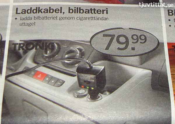 Kabel Ladda bilbatteri Lidl Uppsala