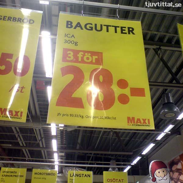 Bagutter - 3 för 28:-