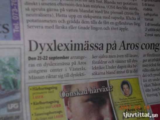 dyslexi västerås tidning
