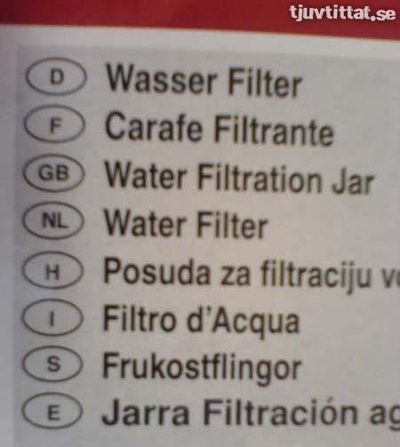 Vattenfilter eller frukostflingor?