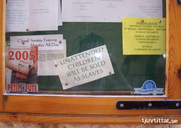 Malta barn säljes slavar
