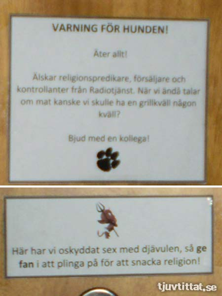 Hund djävulen sex dörr lägenhet