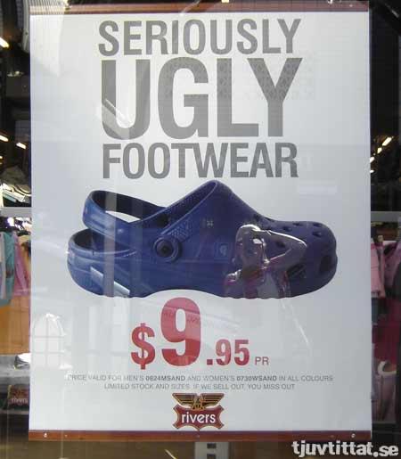 Foppa toffla seriously ugly footwear Australien