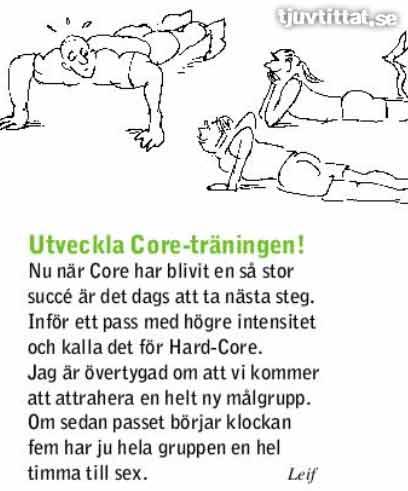 Hard core träning sex