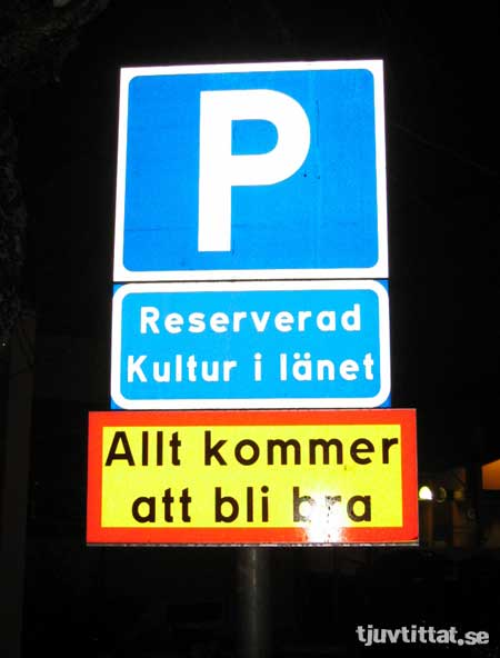 Bra skylt kultur Uppsala