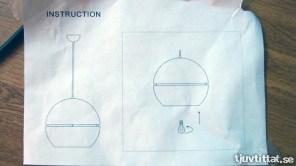 Monteringsanvisning för taklampa