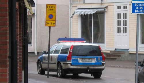 Polis Bengtsfors parkering FAIL
