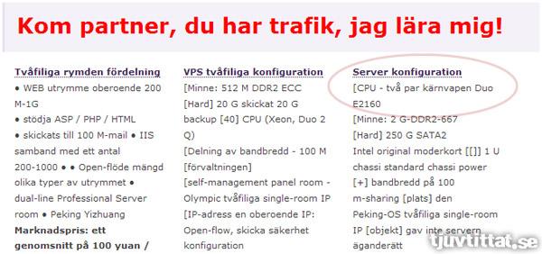 Två par kärnvapen i servern (maskinöversättning från Google Translate)
