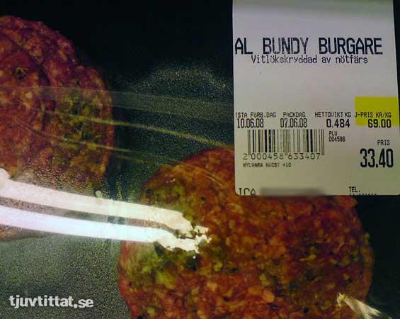 Al bundy burger ICA Bergshamra