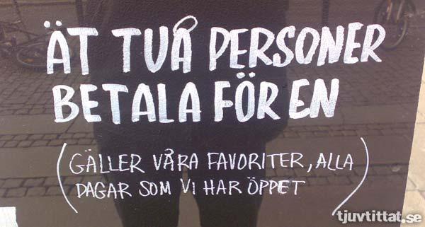 Kannibalernas favoritrestaurang ligger i Göteborg: Ät två personer, betala för en!