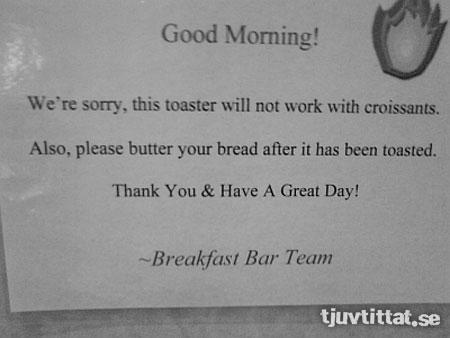 hotell Seattle frukost rosta