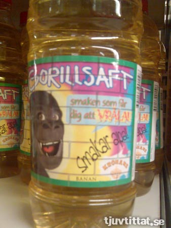 Gorillsaft - smakar apa