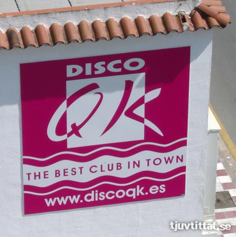 Discofitta discokuk spanien skylt