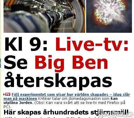 Se Big Ben återskapas live - Klockan klämtar för jorden
