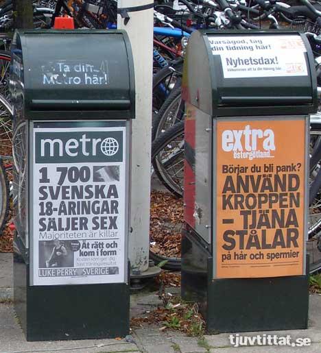 Metro Extra hora Linköping löpsedel