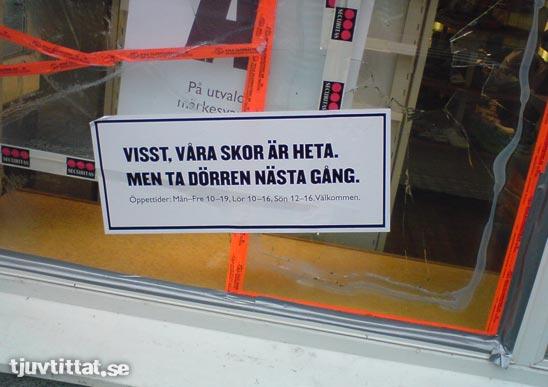 Reklam skor inbrott Karlstad lapp