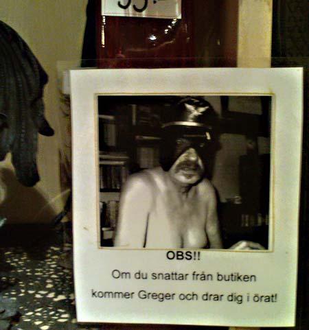 Greger Gimp Kärleksbutiken Luleå lapp