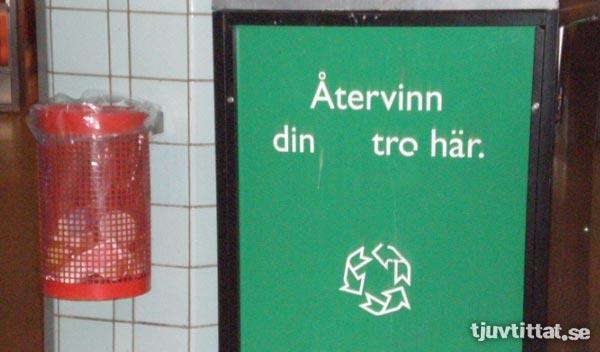 Metro Tro gud återvinning Hötorget gatukonst