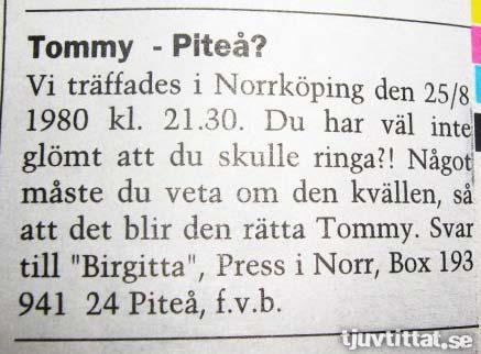 Norrbotten dejt Piteå Norrköping kontakt