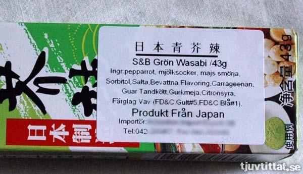 Wasabi - Det vattnas i gommen…