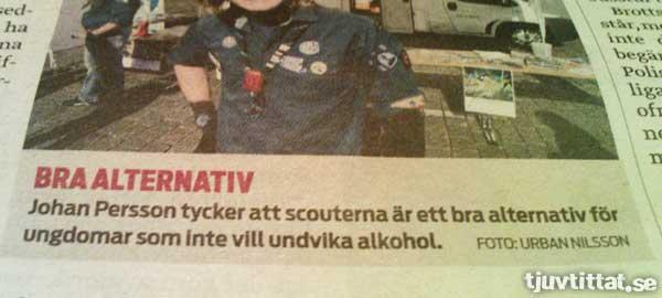 Scouter - Om du inte vill undvika alkohol