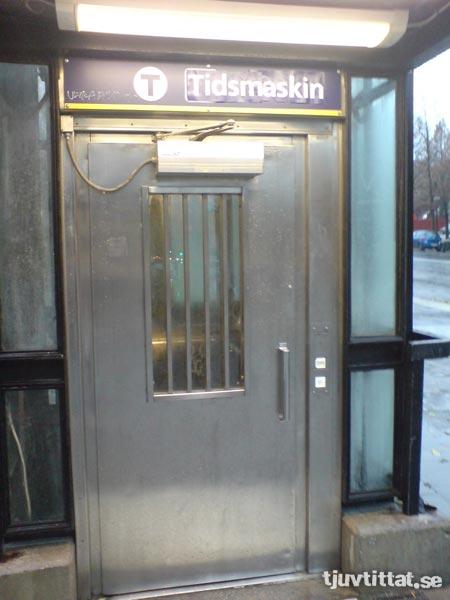 Tidsmaskin Zinkensdamm tunnelbana gatukonst