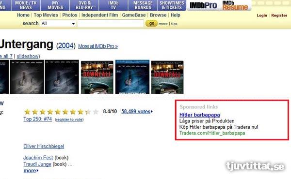 Hitler Barbapapa tradera IMDB julklapp