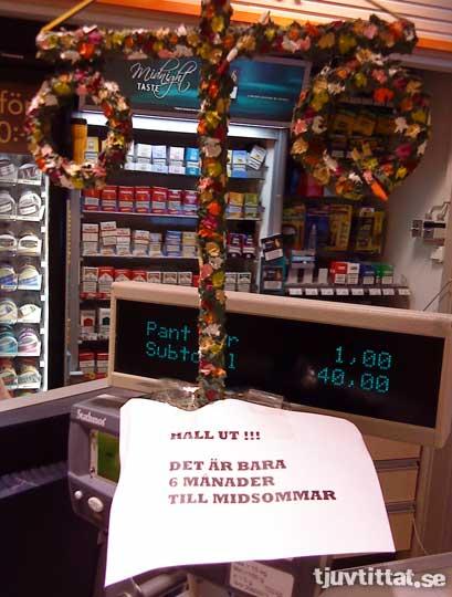 Midsommar Statoil Göteborg lapp
