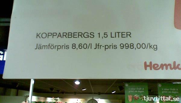 Kopparbergs light?