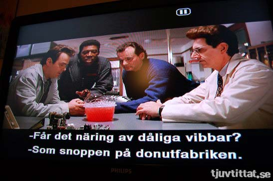 Like a cop in a donut factory = Som snoppen i donutfabriken