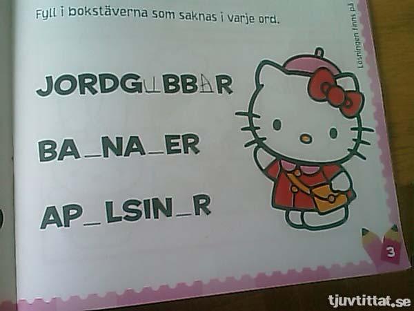 Lär dig stava med Hello Kitty