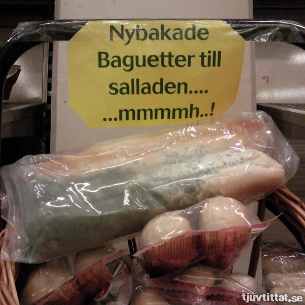 Nybakade baguetter till salladen... ...mmmmh..!