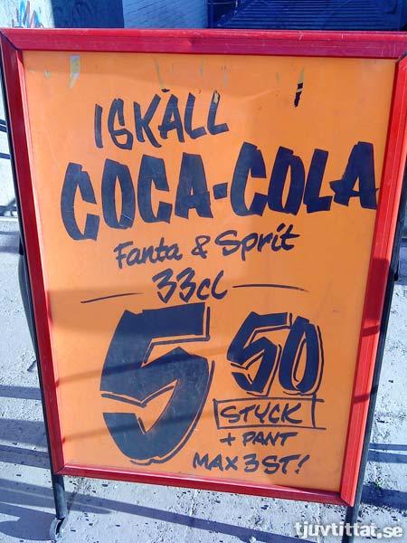 Iskall Fanta & Sprit, 5:50 kr