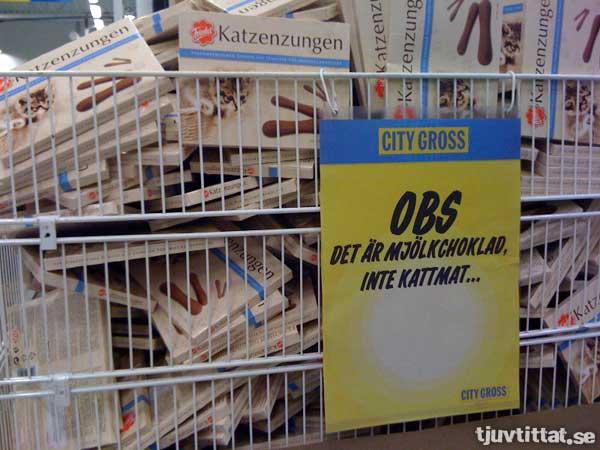 Katzenzungen - OBS, det är mjölkchoklad, inte kattmat...
