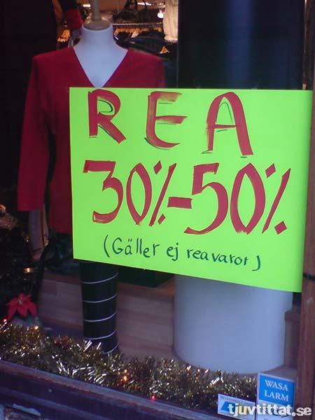 Rea 30%-50% (gäller ej reavaror)