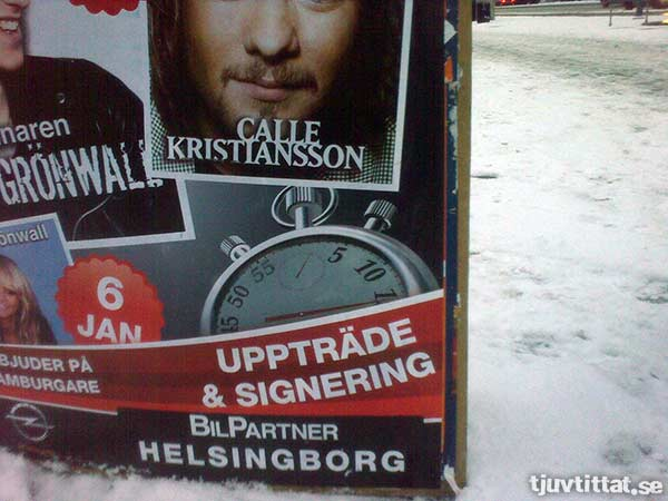 Uppträde & signering