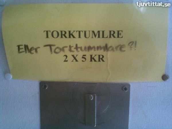TORKTUMLRE (Eller Torktummlare?!)