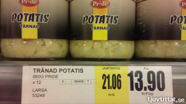 Tränad potatis