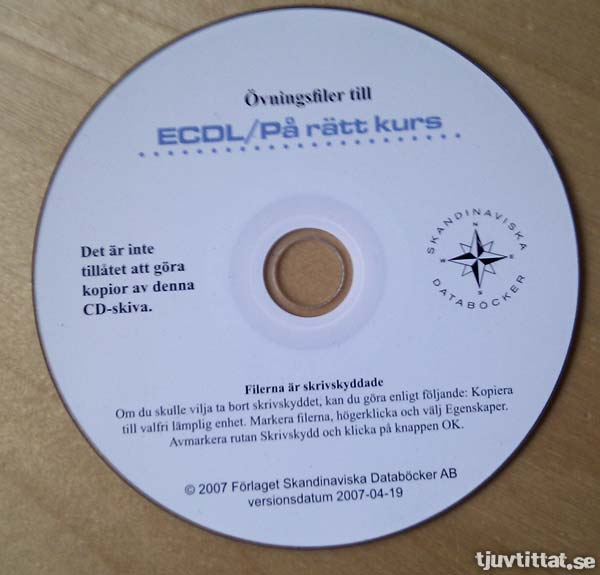 Det är inte tillåtet att göra kopior av denna CD-skiva.