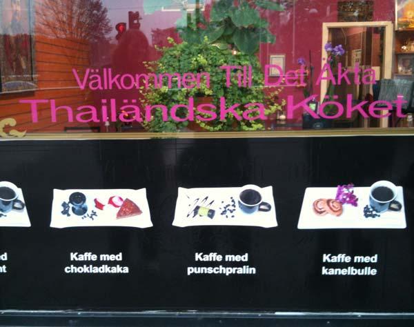 Det äkta Thailändska köket - Kaffe med kanelbulle