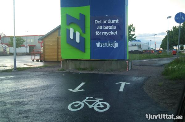 Elvägg cykelbana