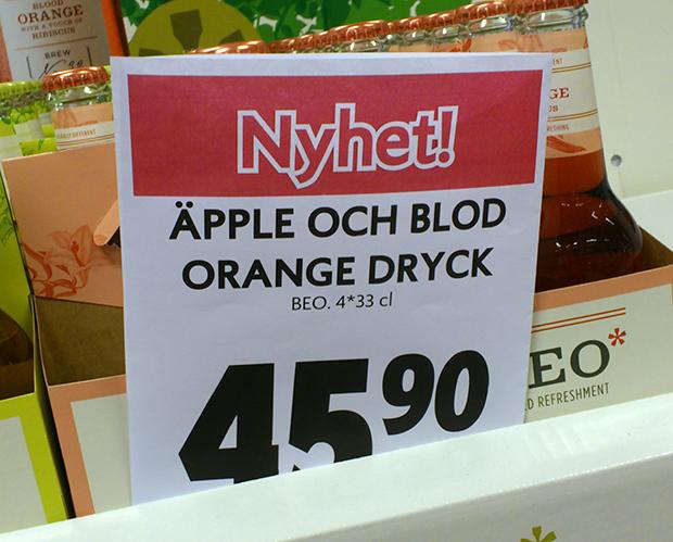 Äpple och blod - Orange dryck