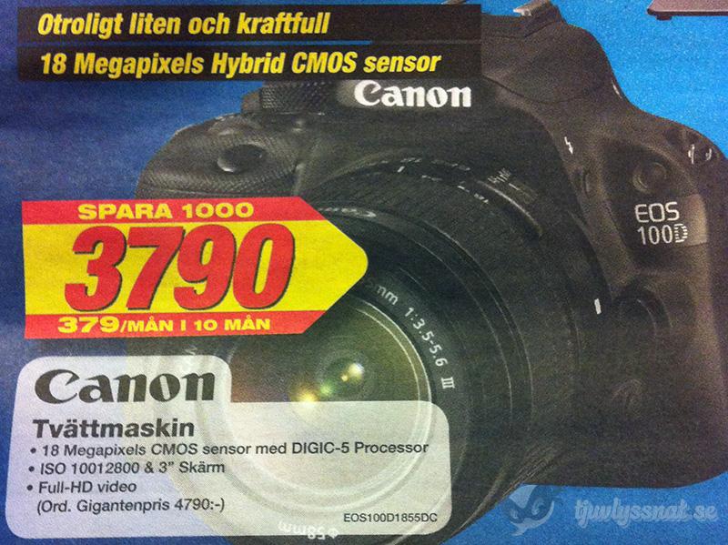 Canon tvättmaskin - När brännvidden har betydelse