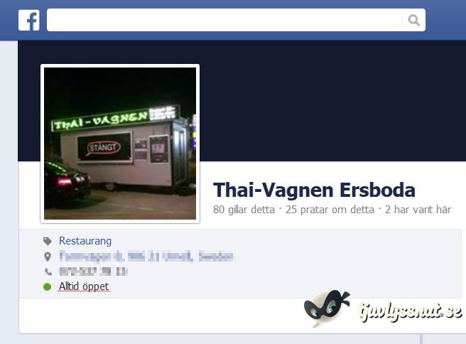Öppet Stängt Thaivagnen
