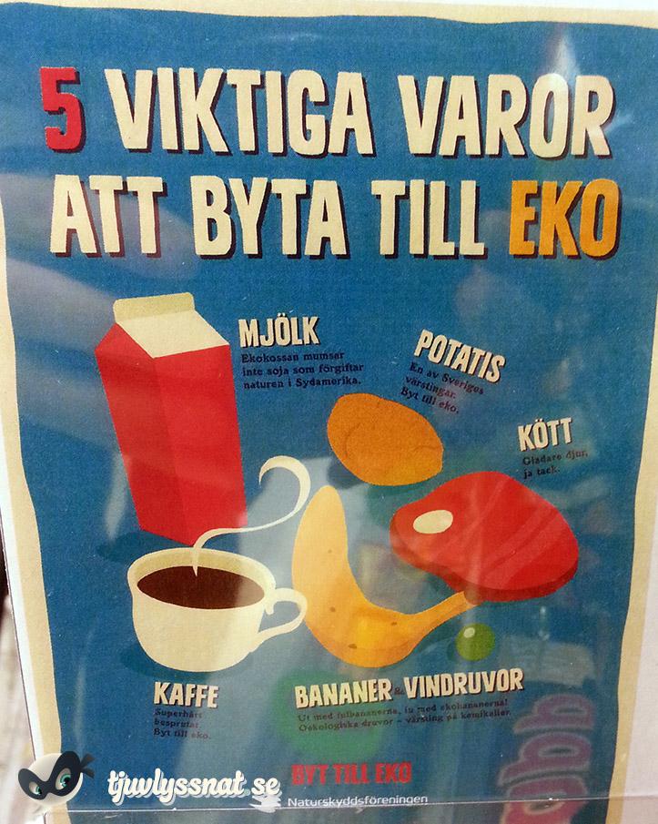 Fem viktiga varor: Mjölk, potatis, kött, kaffe, bananer och vindruvor...
