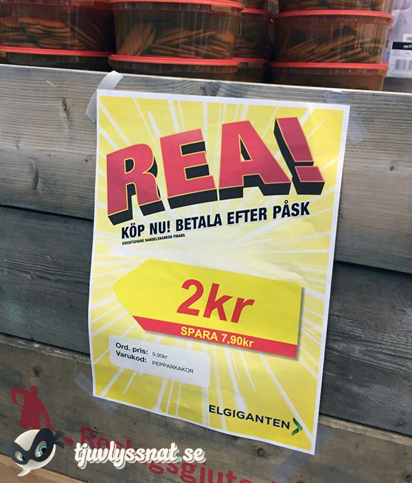 Köp nu, betala till påsk: Pepparkakor, 2 kronor (spara 7:90)